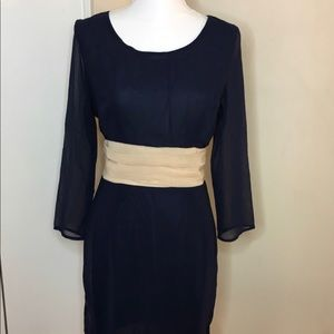Gorgeous sheer navy blue dress size medium